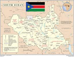 Map Of Sudan South Sudan Map Of 28 States Image Gallery Hcpr