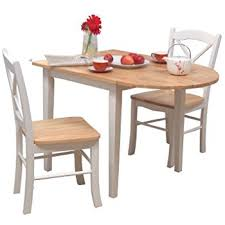 Folding Dining Table And Chairs Amazon Com Coaster 3 Piece Dining Set Natural Kitchen U0026 Dining