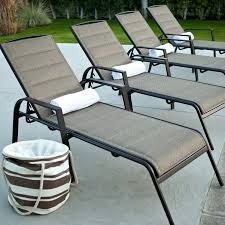 Poolside Chaise Lounge Aluminum Patio Chaise Lounge Patio Chaise Lounge With Cushion