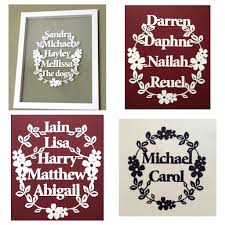 personalised quote gifts personalised family papercuts welcome to ant design gifts