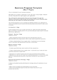 business proposal templates examples business