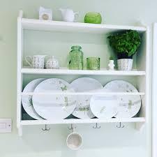 Shelf Kitchen Stenstorp Ikea Plate Rack In A Green And White Kitchen Shelfie