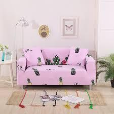 sofa hussen stretch nette rosa kaktus gedruckt corner sofa hussen universal
