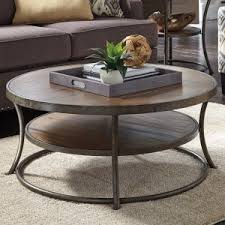 cheap round coffee table distressed industrial style coffee tables hayneedle