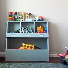 Storage Shelf Wood Plans by Ana White Toy Storage Bin Box With Cubby Shelves Diy Projects