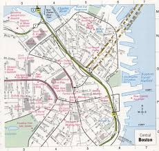 Boston Map by Central Boston Map