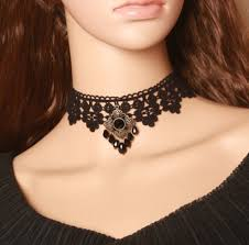 vintage lace collar necklace images Vintage black lace choker necklace for women personalized necklace jpg