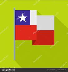 Chile Santiago Flag Chile Flag Icon Flat Style U2014 Stock Vector Ylivdesign 170765906