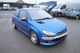 2003 03 reg peugeot 206 gti 180hp fast track day car has the u0027van