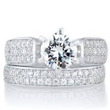 wedding ring sets for kali s 85 ct cut cz wedding ring set