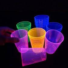 bicchieri fluorescenti tutto per il fluo gadget makeup abbigliamento e