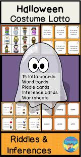 halloween costume riddle and inference lotto game inference