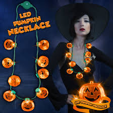 led pumpkin necklace counter display led necklaces retail led