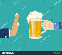 cartoon no alcohol no alcohol man offers drink holding stock vector 714701125