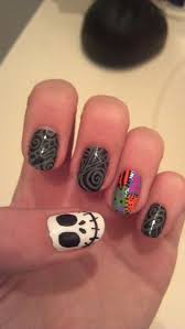 halloween nightmare before christmas nail art by dyingxalicex on