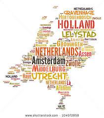 netherlands map cities netherlands map words cloud major cities stock illustration