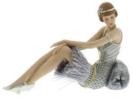 new charleston gatsby figurines ornament gift silver