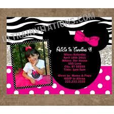 minnie mouse birthday invitations personalized invites