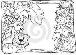 cartoon jungle animals coloring pages bebo pandco