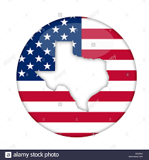State Flag Of Texas Texas State Of America Badge Isolated On A White Background Stock