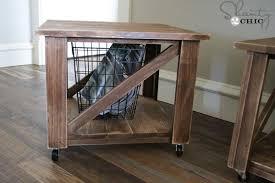free woodworking plans diy rolling storage ottoman