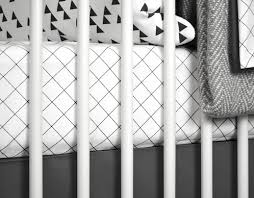 Black And White Crib Bedding Set Grid Baby Bedding Modern Crib Bedding Black And White Baby