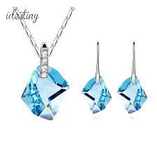 earrings brands aliexpress buy necklace earrings jewelry set made with