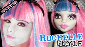 Halloween Monster High Doll Rochelle Goyle Monster High Doll Costume Makeup Tutorial For