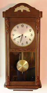 Oval Office Clock by Typical German Wall Box Clock Not Particularly Collectable