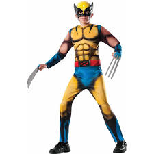 marvel deluxe wolverine boys u0027 child halloween costume walmart com