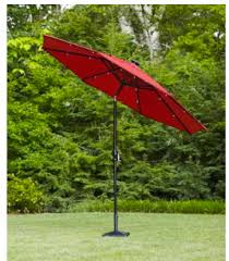 hampton bay 9 ft dia octagon solar powered patio umbrella for