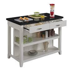white kitchen island with granite top amazon com bell u0027o ki10275 48 t401 the server kitchen island with