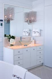 beautiful frameless mirrorin bathroom modern with elegant kitchen