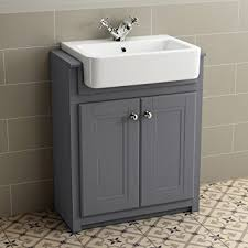 Bathroom Sink Units With Storage Ibathuk 830mm Grey Basin Vanity Cabinet Bathroom Storage Furniture