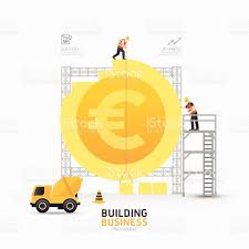 infographic business euro coin shape template designbuilding to