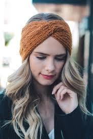 infinity headband twist braid knit crochet headband