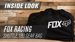 fox motocross gear bags fox racing shuttle 180 roller mx gear bag inside look youtube