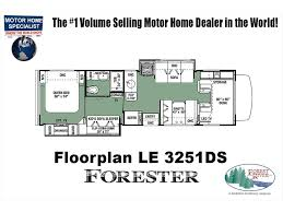 class c floor plans 2018 forest river forester le 3251ds bunk model coach for sale at