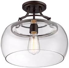 clear glass light fixtures charleston bronze 13 1 2 wide clear glass ceiling light amazon com