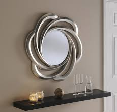 Antique Bathroom Mirrors Sale by Turin Large Round New Wall Mirror Silver Swirl Frame Art Deco