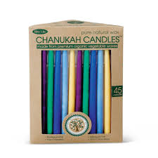 hanukkah candles colors organic vegetable wax chanukah candles