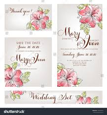 cards for marriage wedding invitation thank you card save stock vector 128294876