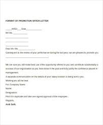 promotion offer letter template 7 free word format download