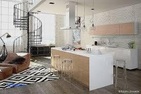 parquet salon carrelage cuisine faux parquet sur carrelage pour déco cuisine fraîche deco salon