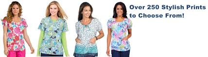 cheap print scrub tops and jackets