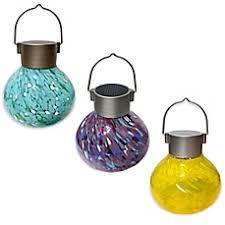 solar umbrella clip lights allsop hanging outdoor solar tea lantern bed bath beyond