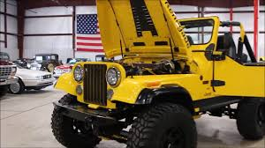 jeep 1982 1982 jeep cj7 yellow youtube