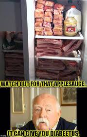 Funny Bacon Meme - diabeetus fridge imgflip