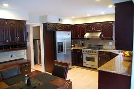 Kitchen Cabinet Restaining by Cabinet Refinishing U2014 Luxe Walls