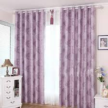 lilac bedroom curtains special designed leaf cotton blackout curtains in purple buy